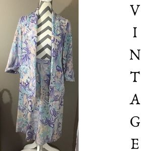 Vintage 80s Pastel Abstract Skirt Suit